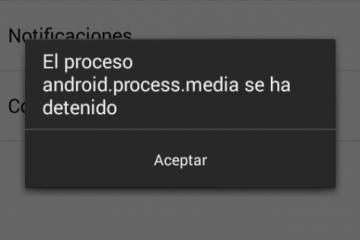 Como corrigir android.process.media parado. Rápido e fácil