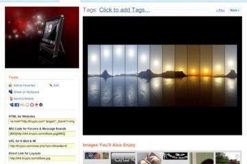 Como fazer upload de fotos e vídeos para o Tinypic