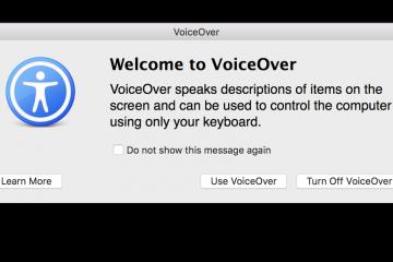 Como desativar o VoiceOver no Mac facilmente