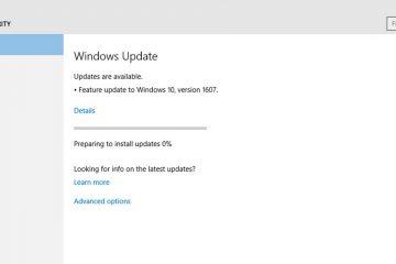 O que fazer se o Windows Update olhar para atualizações?