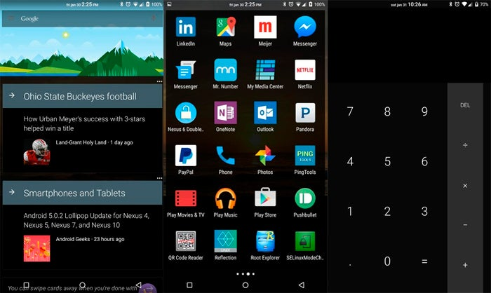 Capturas de tela do Bloquear Google Now Launcher