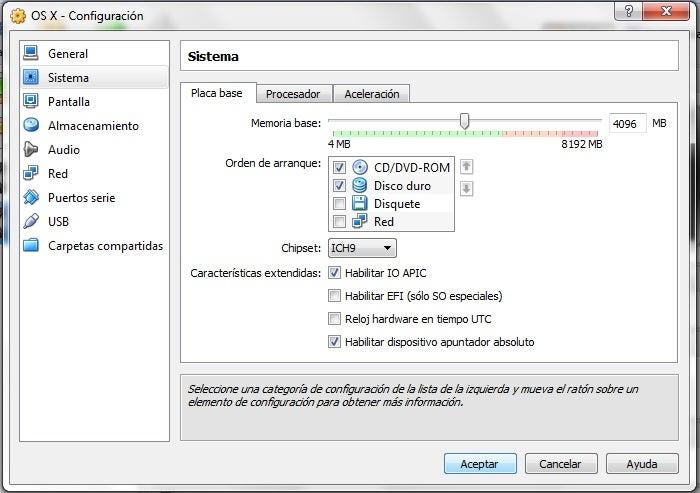 Configuração de VM para Mac OS X