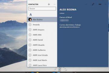 Impede que aplicativos instalados no Windows 10 acessem seus contatos