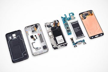 O iFixit mostra o interior do Galaxy S5