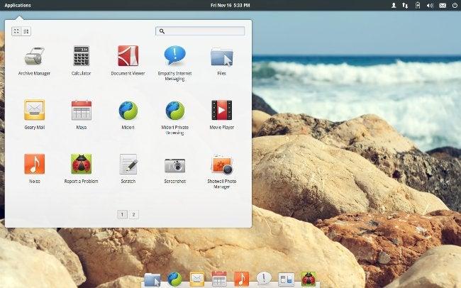 Captura de tela do Elementary OS Luna