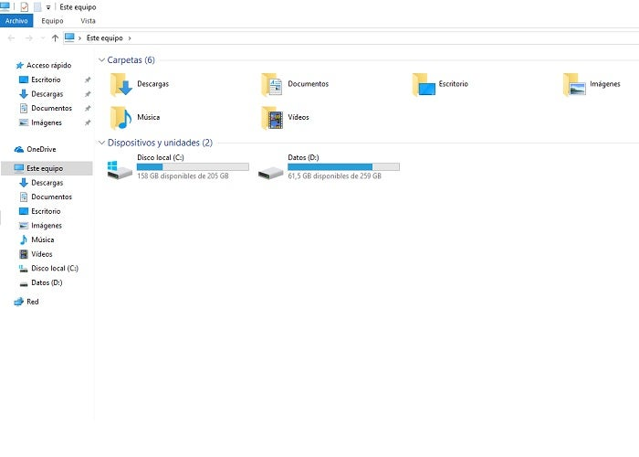 W10 File Explorer