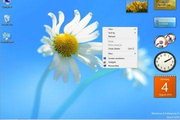 Habilitar gadgets de área de trabalho no Windows 10