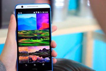 Instale a câmera e a galeria HTC no seu terminal