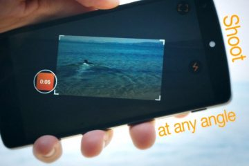 Sempre grave seus vídeos horizontalmente, mesmo que você mova seu Android