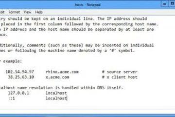 O que é o arquivo hosts e como ele é modificado?