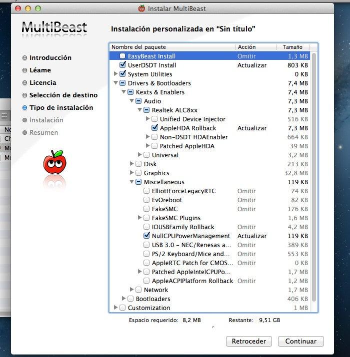 Configuração MultiBeast