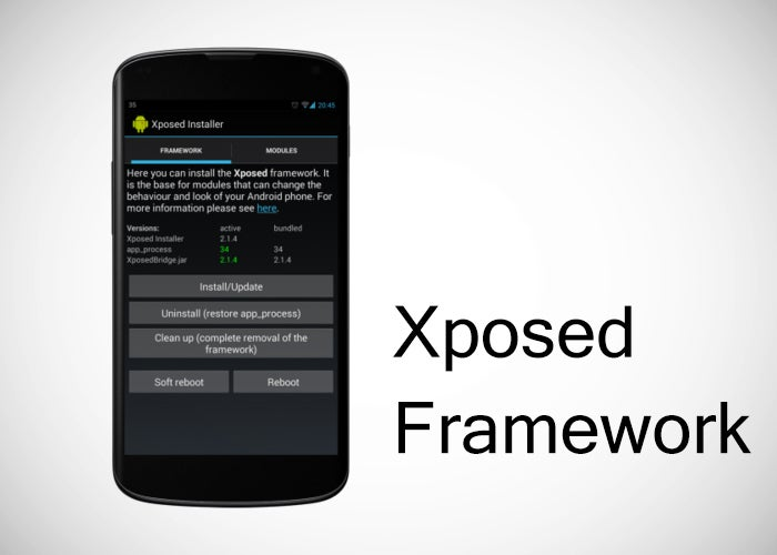 Captura de tela do Xposed Framework no Nexus 4