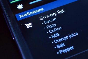 Lembrete de notificação: adicione notas à sua barra de notificação
