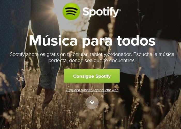 Captura de sites Spotify
