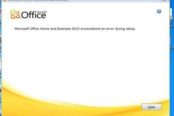 Se o Office 2010 for reparado na inicialização, aqui está a solução