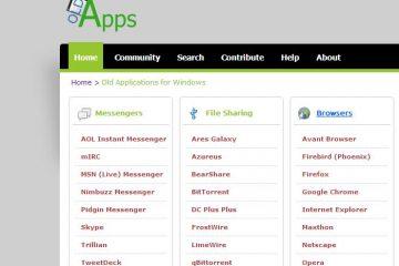 Instale versões antigas e nostálgicas de seus aplicativos favoritos