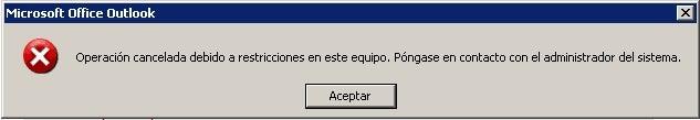 Erro do Outlook