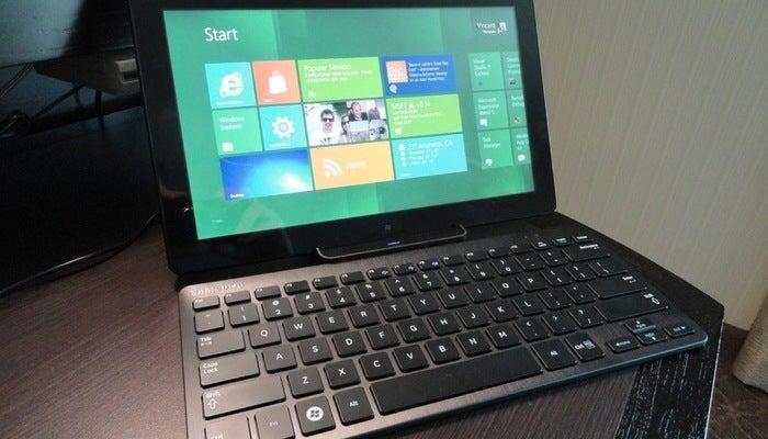 Tela de boas-vindas do Windows 8