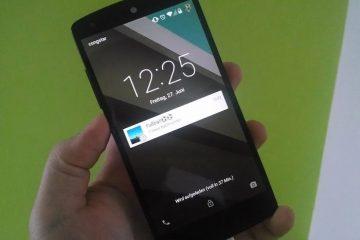 Instale a tela de bloqueio do Android L no seu terminal