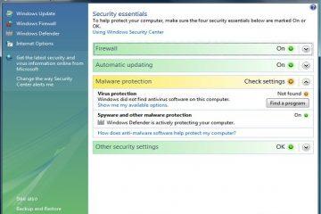 Verifique, repare e ative a segurança do Windows facilmente