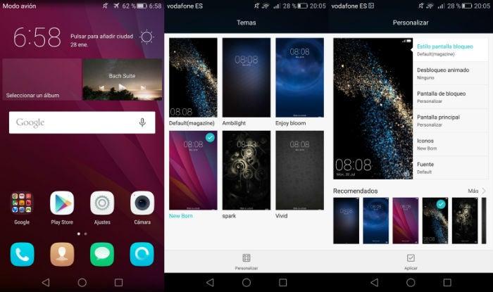 Temas do Emotion UI 3.1 Huawei P8