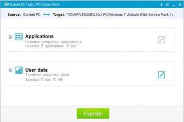 Transfira seus dados e aplicativos para outro PC através da rede facilmente