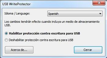 Proteção contra gravação USB