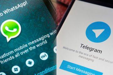 Comparação de privacidade entre Telegram e WhatsApp