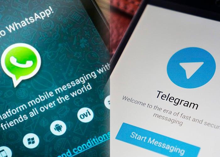WhatsApp e telegrama