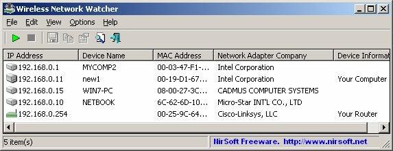 Observador de rede Wifi
