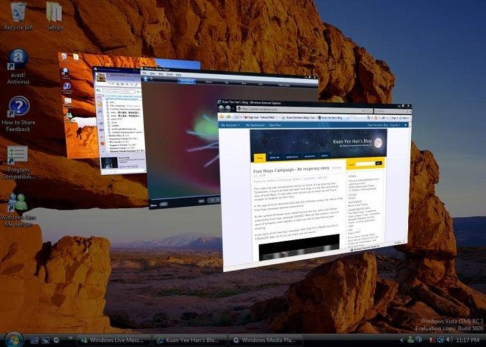 Efeitos visuais do Windows
