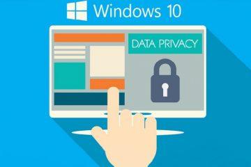 Proteja sua privacidade no Windows 10