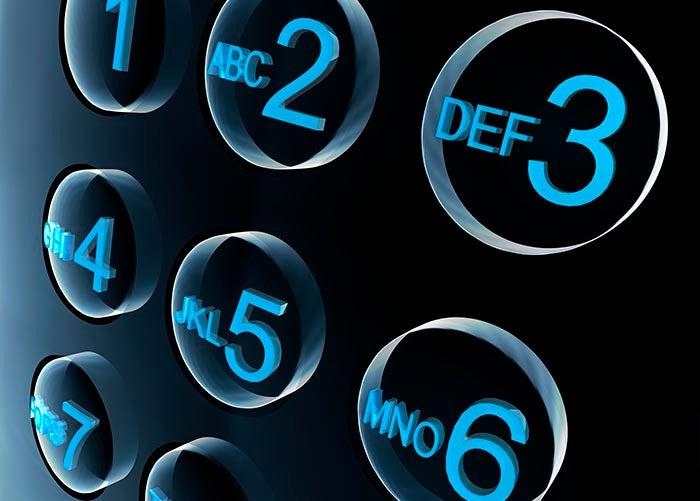 Números de telefone