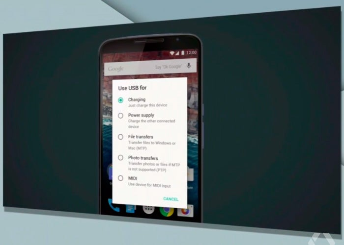 android-m-conexão-usb
