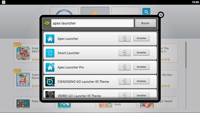 Pesquise Launcher no BlueStracks