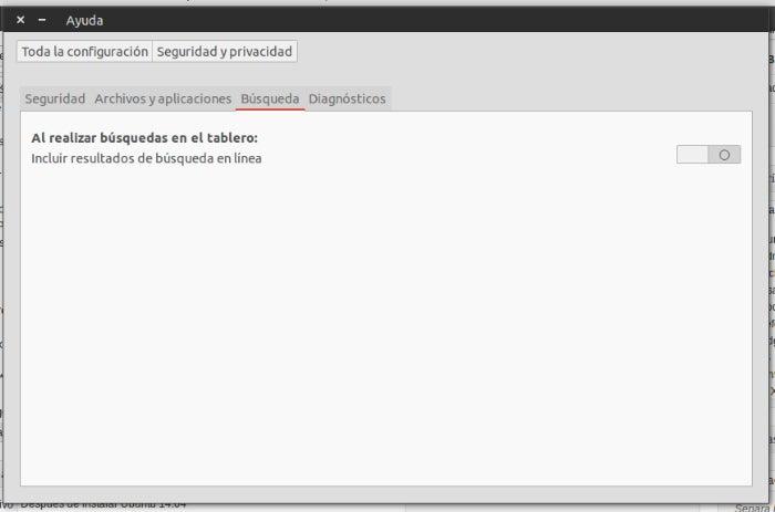 pesquisa on-line do ubuntu