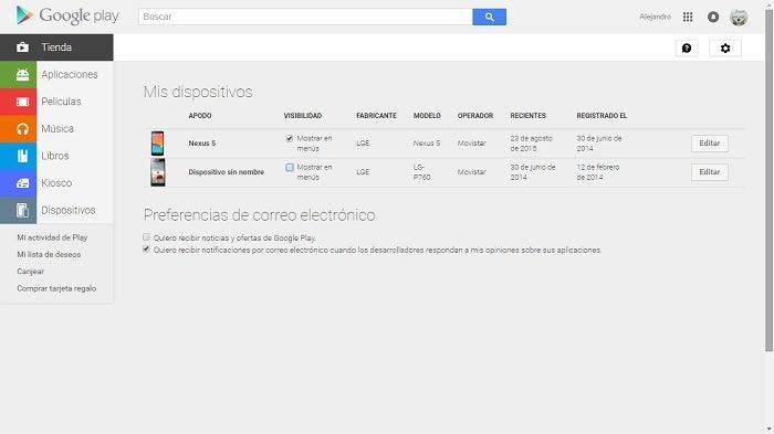 capturar modificar dispositivos do Google Play