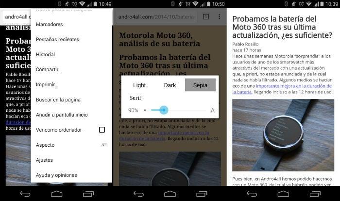 Modo de conversa no Chrome Beta 39