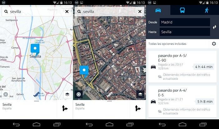 Aqui a interface do Google Maps