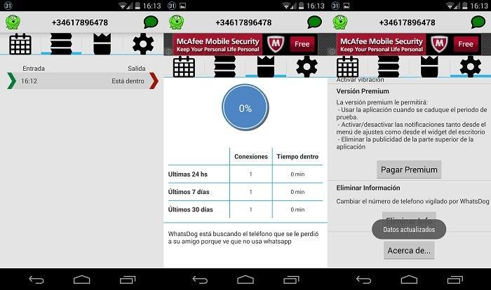 Interface WhatsDog