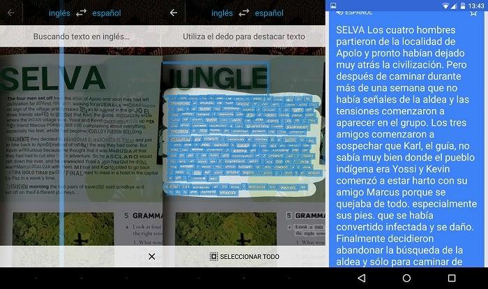 pega tradução câmera Google Translate