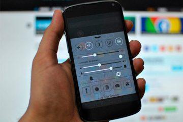 Como instalar o iOS Control Center no Android