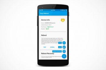 O Easy Reboot estende as funções de reinicialização do seu terminal Android se você é root
