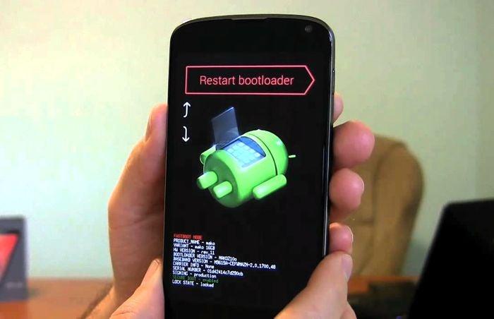 Restauração de fábrica Android