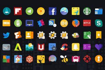 Glim, um belo pacote de ícones gratuitos e com Material Design para personalizar seu Android