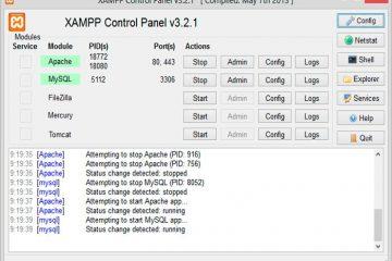 Como montar um servidor web com o Xampp