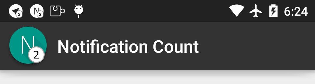 cópia da barra de status de captura de tela de contagem de notificação