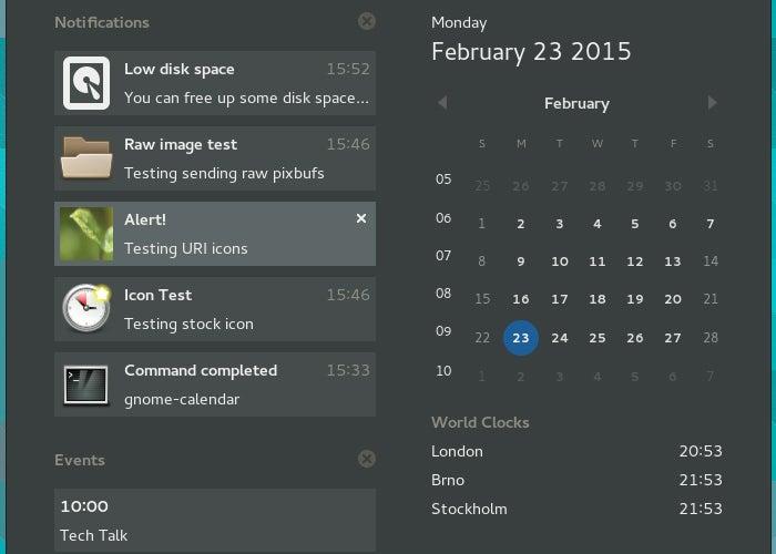 Notificações do Nuntius para Android no GNOME