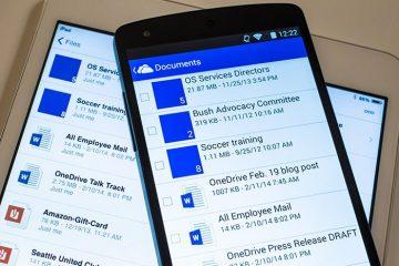 Como baixar o aplicativo OneDrive com o Design de materiais