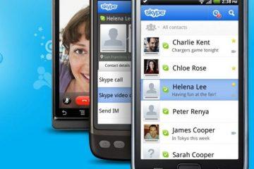 Salve mensagens de vídeo com a versão mais recente do Skype para Android